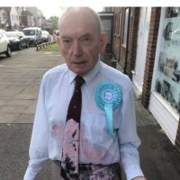 Elderly Army Veteran Assaulted by Unhinged Leftist with Milkshake for Supporting Brexit Party
