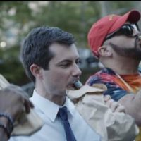 Twitter Mocks Buttigieg for Pandering to Voters By Drinking in Public Out of a Paper Bag