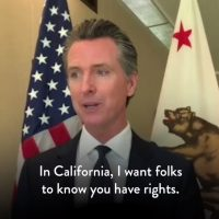 California's Gov. Gavin Newsom puts out a video for illegals on how to obstruct ICE