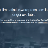 CENSORSHIP: WordPress De-Platforms Blog That Posted Statistics About Muslims