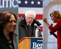 Bernie Sanders, Elizabeth Warren, Kamala Harris, vying for that coveted Ocasio-Cortez endorsment