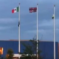 Protesters Raise Mexican Flag And Upside Down American Flag Outside ICE Facility In Colorado (VIDEO)