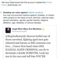 Twitter bans 'angel mom' for criticizing illegals who kill thousands of Americans every year
