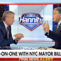 Bill de Blasio more than held his own in an hourlong interview with Sean Hannity