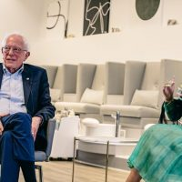 VIDEO: Sanders sits for interview with stripper-turned-rapper in nail salon