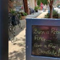 North Carolina Chocolate Shop Incites Confederate Flag Burning