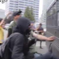 WATCH: New Video Angle Clearly Shows ANTIFA Throwing a Hammer and Spraying Mace at Bus in Portland