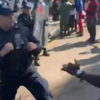 They're Not Sending Their Best: African Migrants on way to US FIGHT MEXICAN POLICE in Wild Border Brawl in Tapachula (VIDEO)