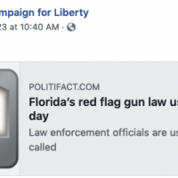 CONFIRMED: Florida's Red Flag Laws are Used Five Times a Day to Confiscate Firearms, Report Says