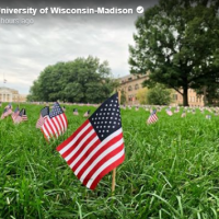 University of Wisconsin honors 9/11 hijackers with American flags