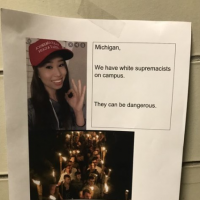 Anonymous posters at University of Michigan target Asian Trump supporter as 'white supremacist'