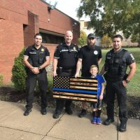 MD county exec orders police to take down 'thin blue line' flag made, donated by young boy