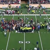 Climate Change Protesters Disrupt Harvard Yale Football Game By Sitting On The Field (VIDEO)