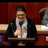 Tlaib wears 'symbol of Hamas terrorists' on House floor to oppose two-state solution in Israel