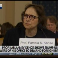 Wow!… Watch Unhinged Democrat Impeachment 'Witness' Pam Karlan Lecture Americans on Arming Ukraine and Fighting Russians Here at Home!