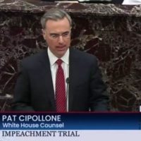 "Pat Cipollone Accuses Dems of Trying to Steal the Election, ""They Want to Remove President Trump From the Ballot"" with Impeachment (VIDEO)"