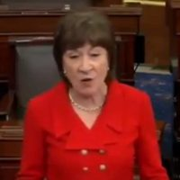 Liberal Republican Senator Susan Collins Announces She Will Vote To Acquit Trump On Impeachment (VIDEO)