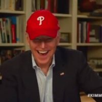 "Awkward: Biden Tells Jimmy Kimmel He Wears His Phillies Cap as a ""Way to be Able to Sleep with My Wife"" (VIDEO)"