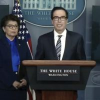 Steve Mnuchin: First Round Of Coronavirus Relief Checks Coming In Two Weeks (VIDEO)