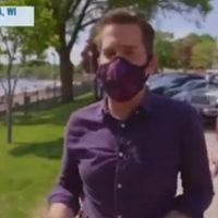 MSNBC Reporter Shames People For Not Wearing Masks, Passerby Points Out Cameraman Isn't Wearing One (VIDEO)
