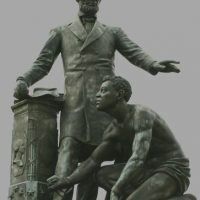 So the rabid-left mob wants to tear down the statue of Lincoln paid for by freed slaves?