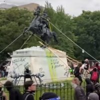 Department Of Justice Charges Four People For Trying To Topple Andrew Jackson Statue In DC