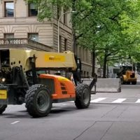 WALLS SUDDENLY WORK: Barrier Being Built Around Portland City Hall