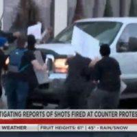 Utah Driver Shot by Antifa Terrorist as He Tries to Flee Swarming Black Lives Matter Mob (Video)