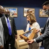 Democrat Leader Pelosi Gifts George Floyd Family with US Flag — Spits on Memory of Men and Women Who Served Country