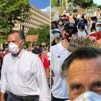 Mitt Romney Joins 'Black Lives Matter' Movement, Marching with Anti-Police Agitators in Washington D.C.