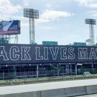 Boston Red Sox Unveil Ridiculous 250 Foot Black Lives Matter Mural Next to Fenway Park