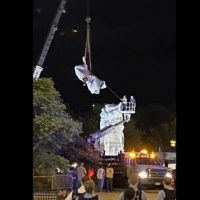Columbus Statue in Chicago Taken Down Overnight – Mayor Lightfoot Sides with Rioters