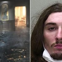 Florida Thug Stages Arson Attack on Catholic Church with Parishioners Inside