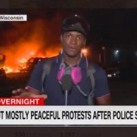CNN Graphic Says 'Fiery But Mostly Peaceful Protests' As Building Burns Amid Rioting In Kenosha
