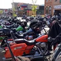 Thousands Of Bikers Arrive In Sturgis, South Dakota For Annual Rally – Plenty Of Trump Signs