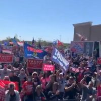 "Massive Crowd Of Trump Supporters Gathers In New York And Yells ""Get Well Soon!"" (VIDEO)"