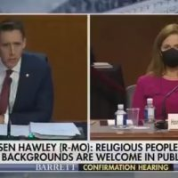 """When You Tell Someone They're Too Catholic – That's Bigotry!"" – Senator Josh Hawley STOMPS on Democrat Religious Bigots at Barrett Hearing (VIDEO)"