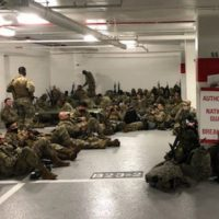DISGRACEFUL: National Guard Members Sent To Sleep In Parking Garage After Being Used By Democrats