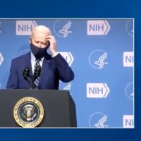 Joe Biden Mumbles Through His Face Mask, Blames Trump For His Own Administration's Vaccine Distribution Failures (VIDEO)